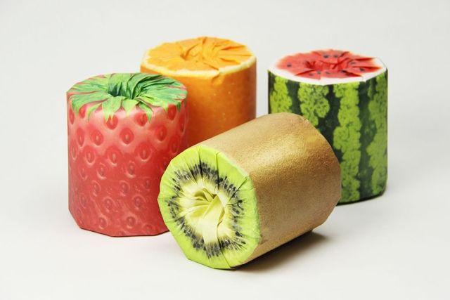おいしそうなフルーツ…でもトイレットペーパーなんです