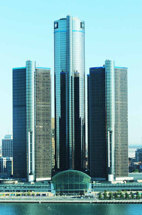 GM building in downtown Detroit, Michigan.