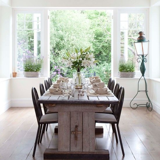 17 best images about rustic vintage dining room on pinterest painted chairs chairs and - Vintage dining room ideas ...