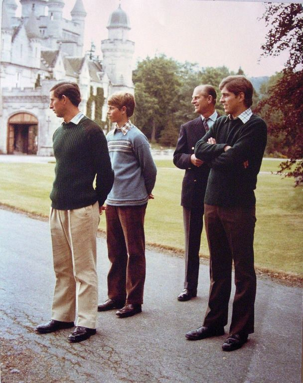 The Royal Family at Balmoral | Royal Collection Trust-Windsor Men-Prince Charles, Prince Edward, Prince Philip, Prince Andrew, Balmoral, 1979