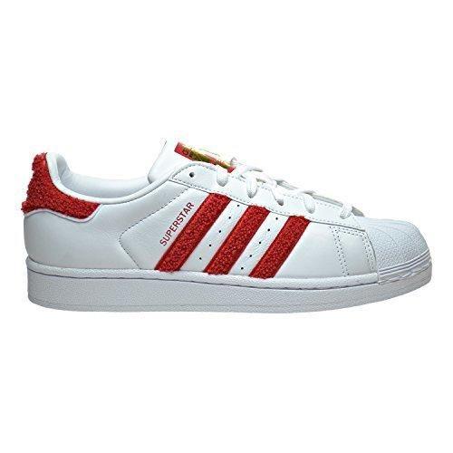 Adidas Women\u0027s Superstar W Originals Ftwwht/Colred/Ftwwht Casual Shoe 9.5  Women US