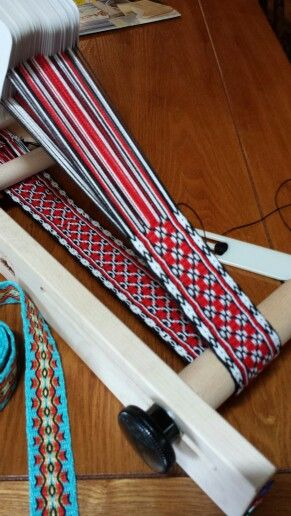 Tablet weaving on my Inkle loom. So fun!