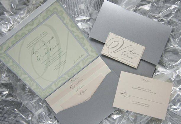 Lauren & Dimitri's custom #wedding invitations from 'RSVP to me' featured in @Contemporary Bride Magazine