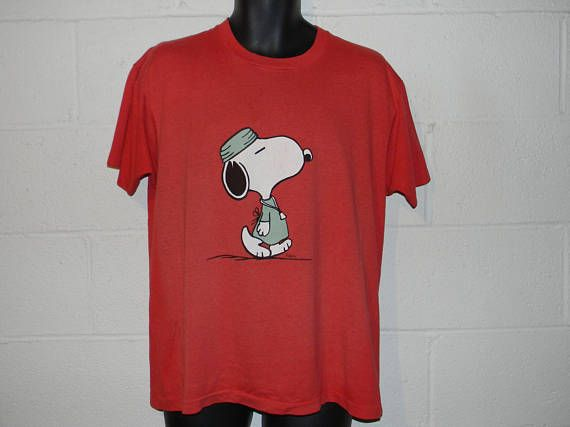 Check out this item in my Etsy shop https://www.etsy.com/listing/533658263/vintage-80s-snoopy-doctor-t-shirt-lxl
