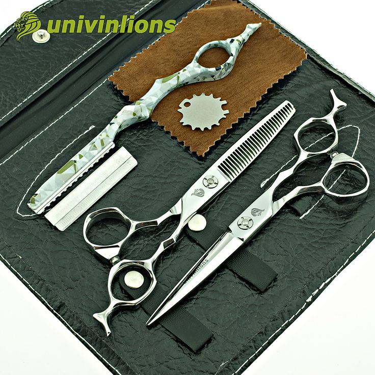 """Univinlions 6 """"migliore capelli forbici giapponese parrucchiere forbici professionali di taglio dei capelli scisors barbiere assottigliamento forbici set"""