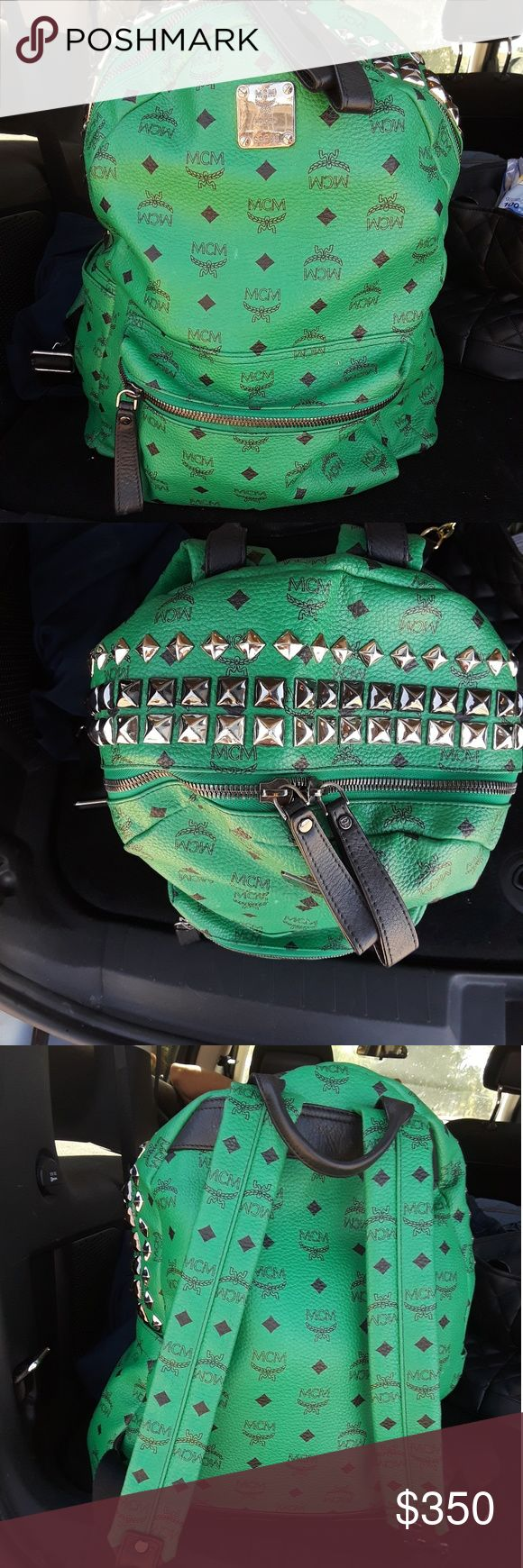 MCM back pack https://us.mcmworldwide.com/en/sale/backpacks?gclid=CjwKCAjwppPKBRAGEiwAh2G1mIjGcWAV4EgaGeqGDNDphREJ4oovIeH3cD1wxzWeB_UCRzkpHOm6pxoCNjQQAvD_BwE      Selling a green authentic all leather MCM backpack best offer I really need the money so I'm going to sell it really cheap There's the link so you could see how much these backpacks are worth if you are interested please let me know as soon as possible MCM Bags Backpacks