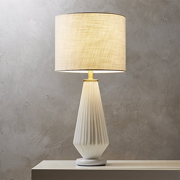Alki White Glass Table Lamp Cb2 Bedside Maybe Modern Table Lamp Table Lamp Lamp