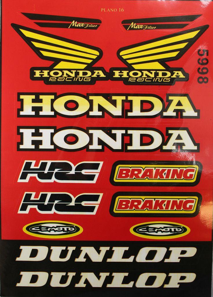 Honda Decal Sticker Atv Dirt Bike Motorcycle Helmet Off-Road Xr Crf 50 70 I De58
