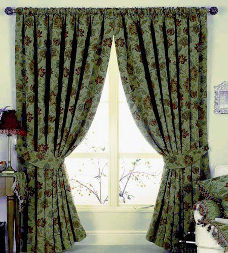 Zurich Green Pencil Pleat Curtains 168 X 183