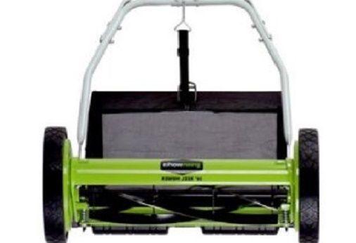 "Push Mower Manual Rear Bag Grass Cutter Eco Friendly Green Lawn  Equipment 16""  #Greenworks"