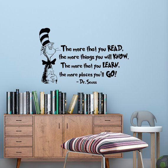 The more that you read wall decal dr seuss quotes by fabwalldecals drseuss quotes