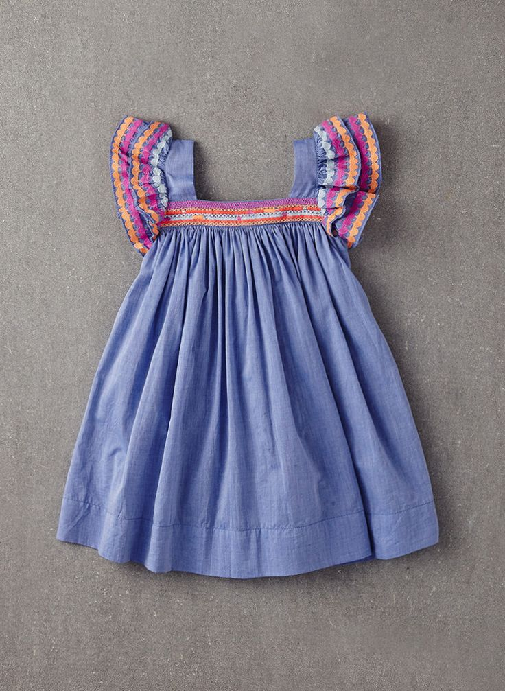 Nellystella Chloe Dress in Light Chambray Denim - Hello Alyss - Designer Children's Fashion Boutique