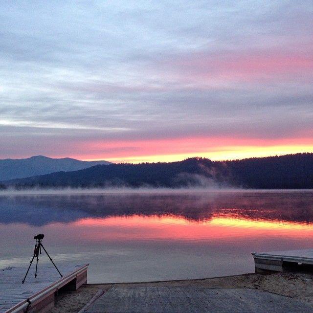Sunrise over Idaho's Sawtooth National Park. Photo courtesy of byualumnus on Instagram.
