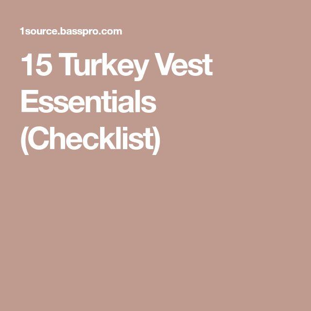 15 Turkey Vest Essentials (Checklist)