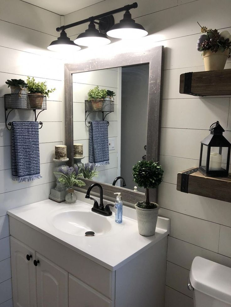 57 Beautiful Rustic Small Bathroom Remodel Ideas On A ...