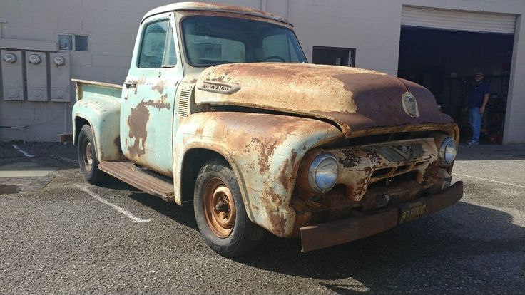 Patina Or Rust 1954 Ford F100 Pickup Trucks Trucks Truck Storage