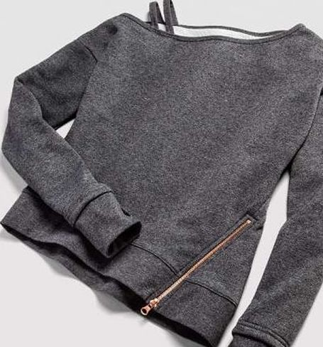 Layering sweatshirt from Anna Kaiser's Target collection.