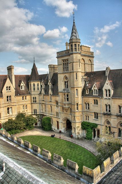 ARCHITECTURE – another great example of beautiful design. Front quad from Library tower, Balliol College, Oxford