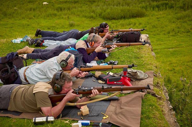 Four Lee Enfields at Thorpe Cloud #rifle #riflemen  #leeenfield #303 #british #derbyshire #thorpecloud #grass #300meters #ntuart #hughhamilton #hughvhamilton #leica #leicam9 #type220 #leicame #m9 #ideasonphotography #leicestershire #copyrighthughhamilton