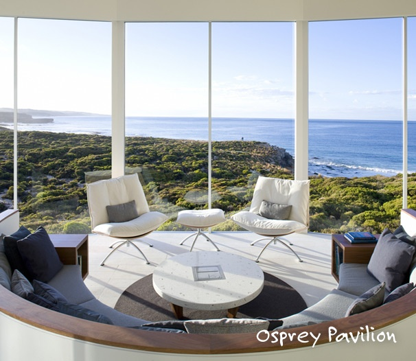 Just look at the amazing view from the Osprey Pavilion suite at the Southern Ocean Lodge on Kangaroo Island in Australia.  You can stay here for $2,700 a night.South Australia, Kangaroos Islands, Ocean Lodges, Living Spaces, Dreams House, Interiors Design, Living Room, Ocean View, Southern Ocean