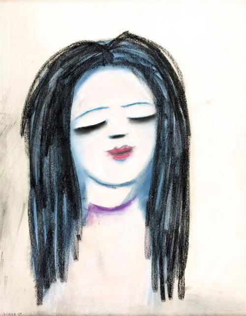 Mirka Madeleine Mora (1928-.) Australia:  Young Girl 1969 Gouache on paper