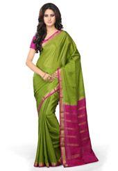 Light Green Pure Mysore Silk Saree with Blouse