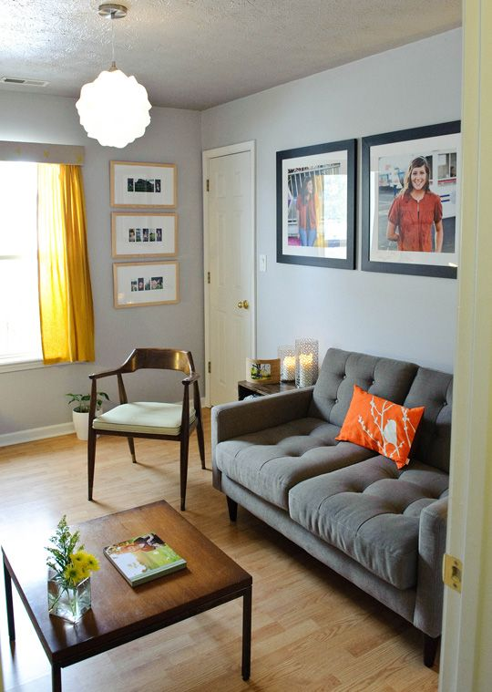 Grey Yellow Orange Living Room Talentneeds Com