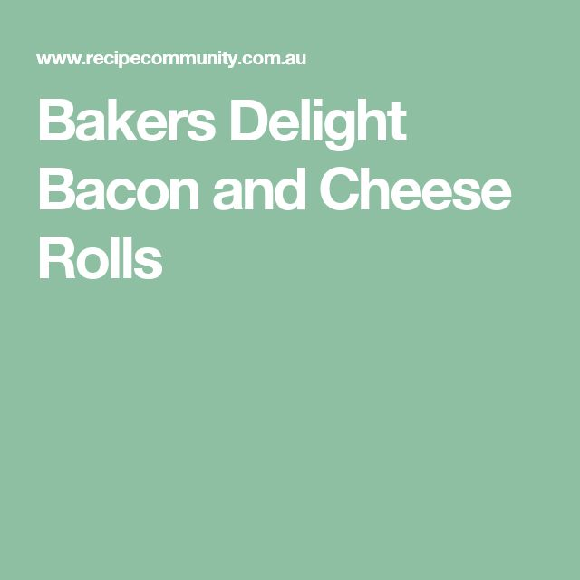 Bakers Delight Bacon and Cheese Rolls