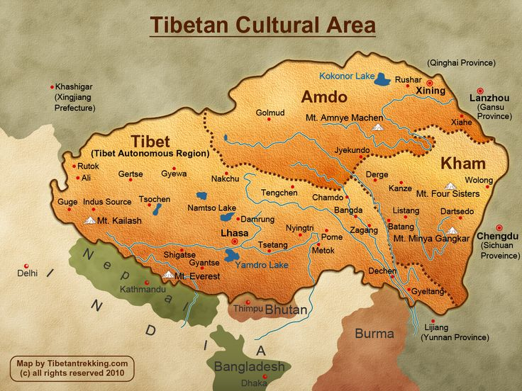 Tibet Location and simple history | Tibetan Trekking