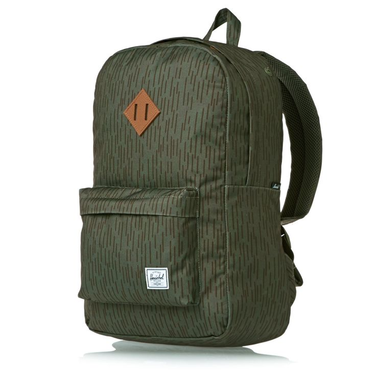 Herschel Backpacks - Herschel Heritage Backpack - Rain Drop Camo/leather