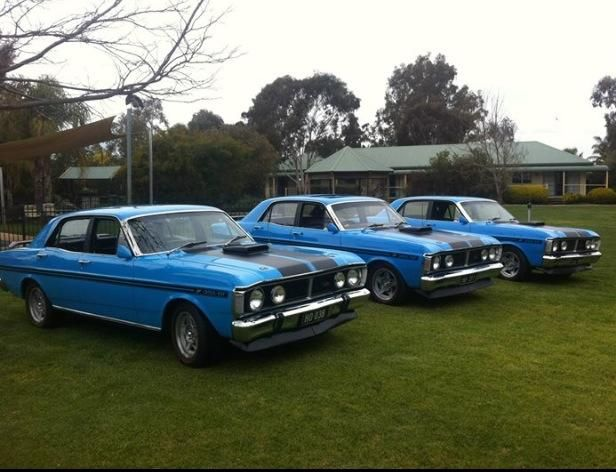 Trio of XY Ford Falcon GTHO Phase III's (351 4v/4speed/Limited-Slip