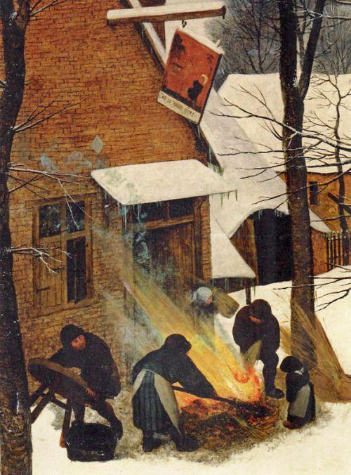 Pieter Brueghel Der Ältere | Heimkehr der Jäger (detail)