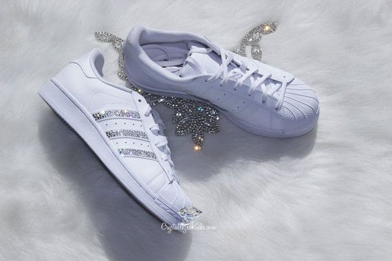 Mujeres Adidas Superstar Original hecho con cristales de