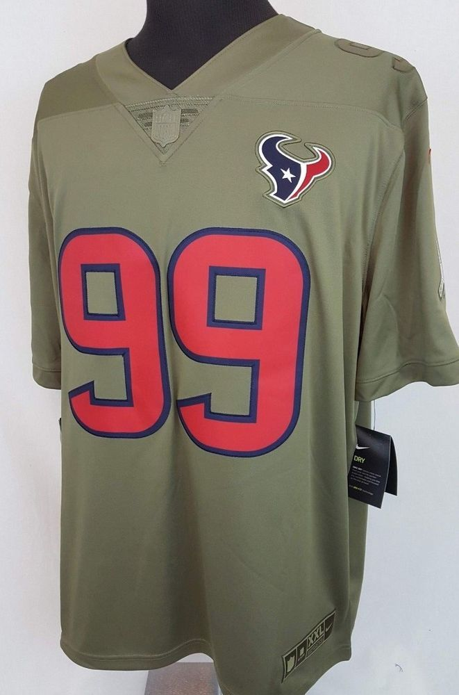 4f20becb JJ Watt #99 Houston Texans Salute to Service Sewn NFL Nike Jersey ...