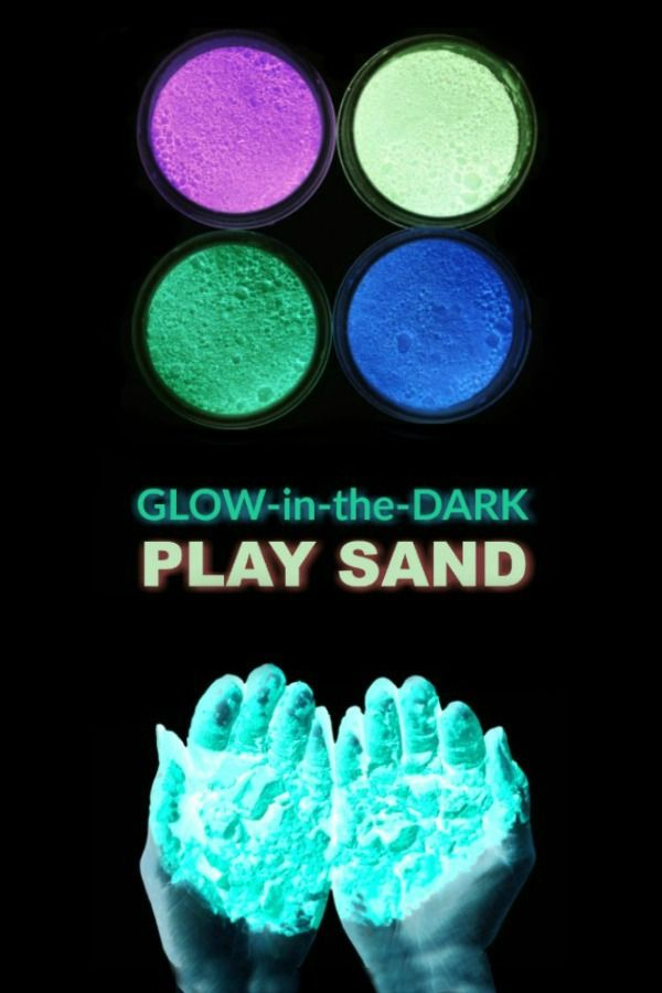 Glow In The Dark Sand Recipe Glow Stick Party Glow Stick Crafts Glow Party Games