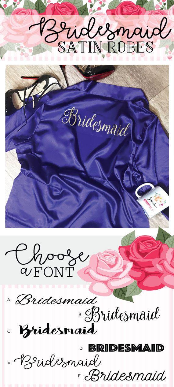 Mejores 38 imágenes de Wedding robes en Pinterest   Batas de dama de ...