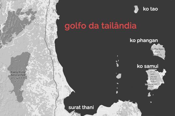 roteiro Tailândia - ilhas do golfo