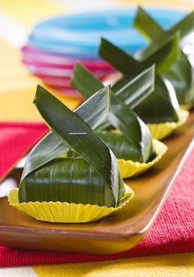 INDONESIAN FOOD - Lemper Ayam (Chicken wrapped in sticky rice)