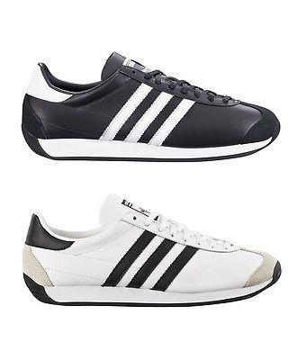 Scarpe Adidas Country OG Sneakers Vintage Uomo Pelle Nero ...