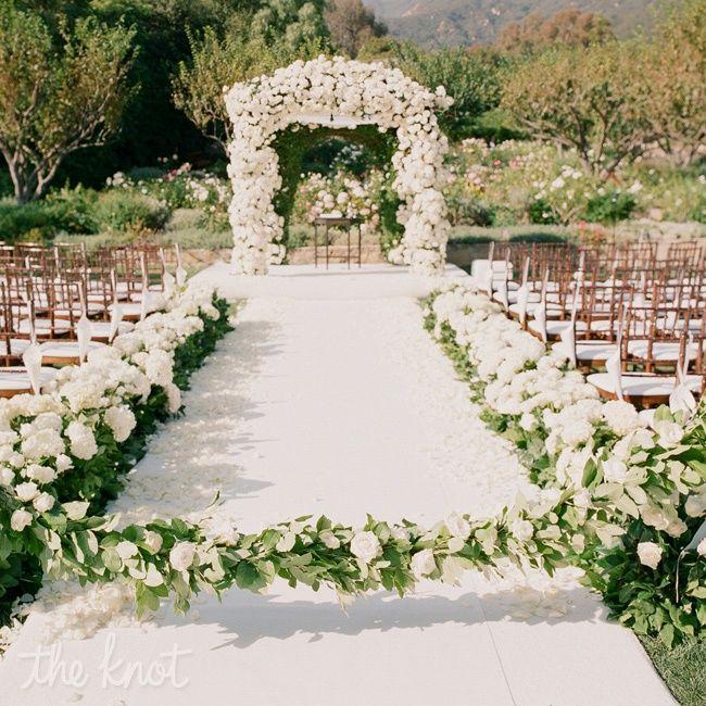 Simple Garden Wedding Ideas: Arche Pour Cérémonie Extérieure