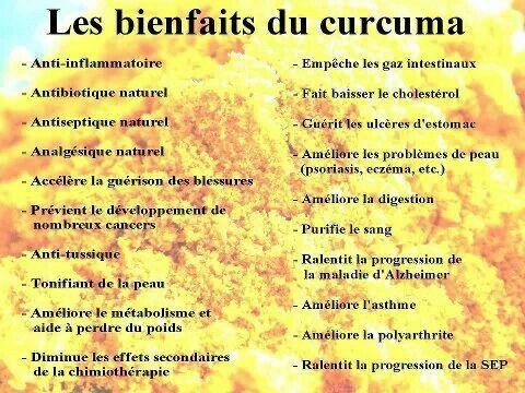 Les bienfaits du curcuma