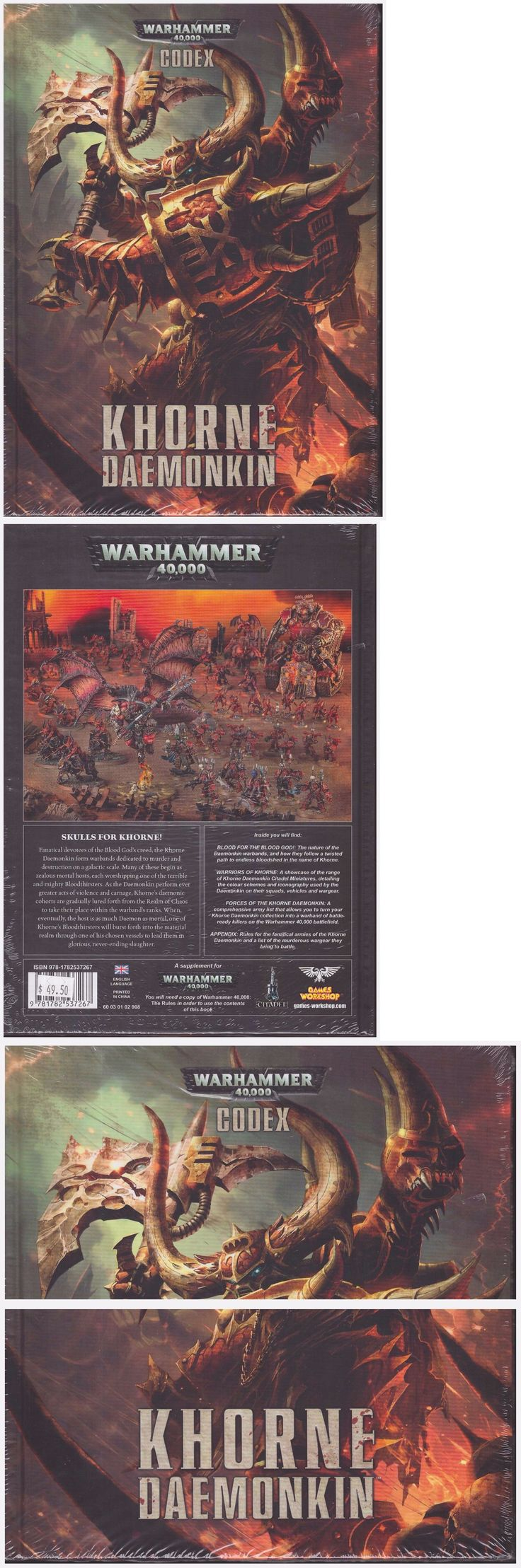 40K Rulebooks and Publications 90944: Gw Warhammer 40K Codex Khorne Daemonkin - Hard Cover - Shrink Wrapped! -> BUY IT NOW ONLY: $35.99 on eBay!