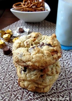 Rolo Pretzel Chocolate Chip Cookies