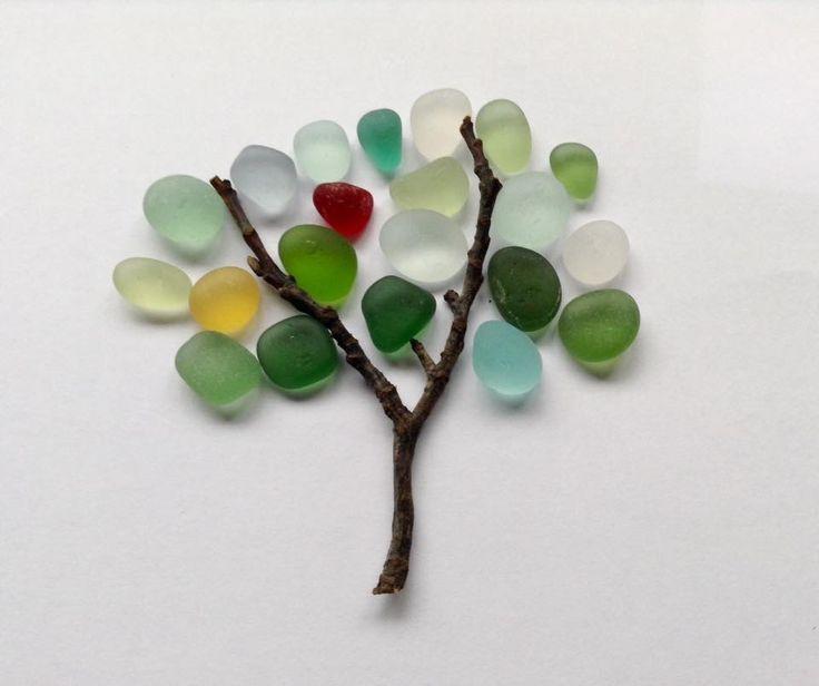SEA GLASS TREE ART
