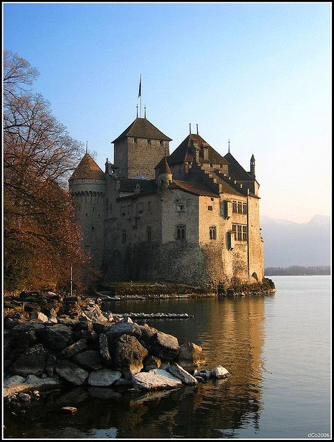 Chillon Castle, Montreux, Lake Geneva, Switzerland