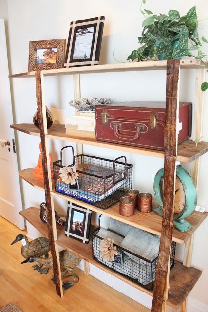 Ironing board shelves - Itsy Bits and Pieces: Part Three from the 2013 Bachman's Fall Ideas House...The Upstairs...
