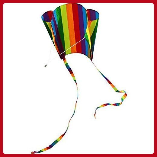Hengda Kite For Kids 31-Inch Rainbow Parafoil Kite - Toys for little kids (*Amazon Partner-Link)