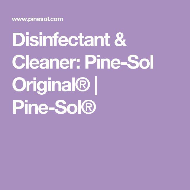 Disinfectant & Cleaner: Pine-Sol Original® | Pine-Sol®