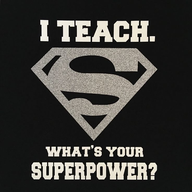 I teach.  What's your Superpower shirt Tshirt.   Super Hero Day!   White print and silver glitter.   Back to School Teacher shirt with sparkly glitter.  Teacher appreciation or end of year gift that your teacher will LOVE!  Best seller for our shop!!  Etsy shop https://www.etsy.com/listing/270542249/superman-i-teach-superpower-shirt