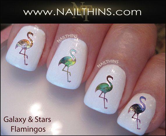 Galaxy Flamingo Nail Decal Nail Art  Nail Designs by NAILTHINS